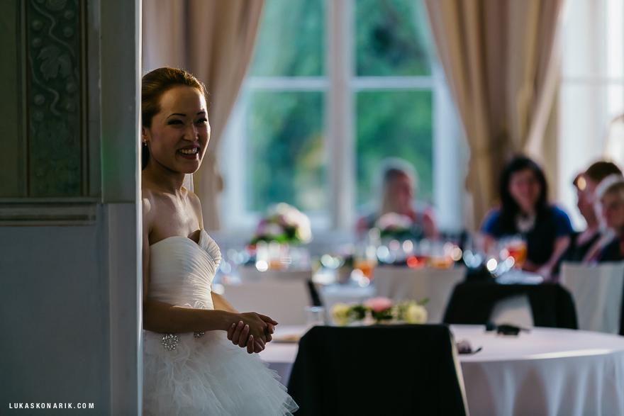 svatební hostina v Letenském zámečku