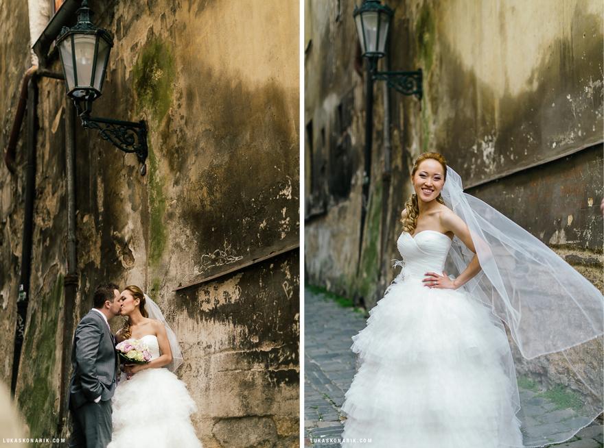 portrétní svatební fotografie v Praze