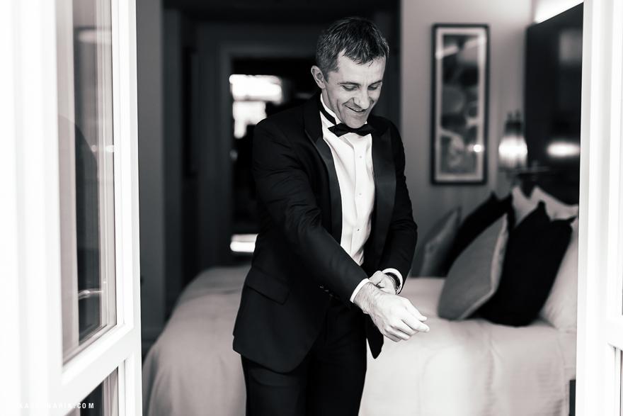 fotografie ženicha před svatbou
