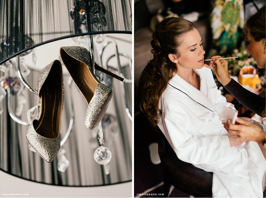 svatební boty Gucci, make up na svatbu
