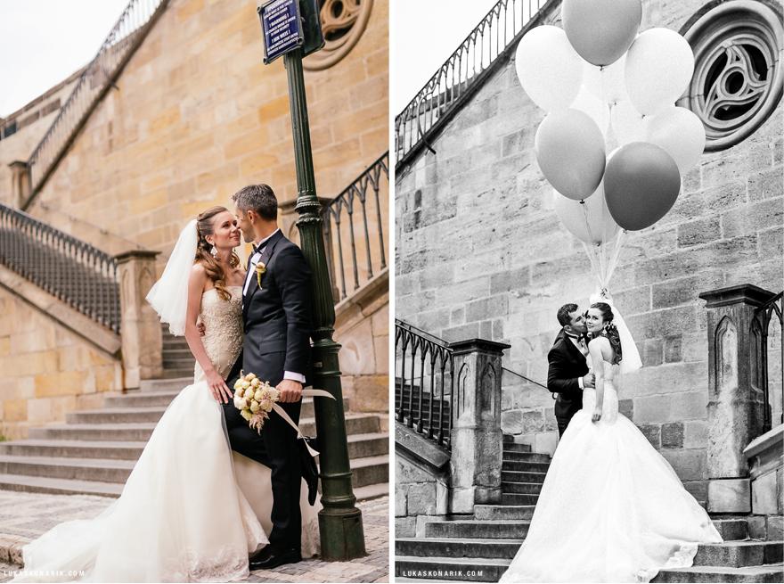 romantické svatební fotografie v Praze