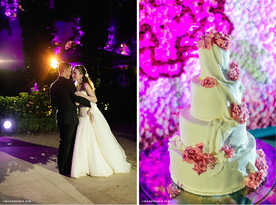 svatební dort a svatební tanec